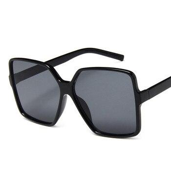 Higody Fashion Women Oversize Sunglasses Gradient Plastic Brand Designer Female Sun Glasses UV400 lentes de sol mujer 13