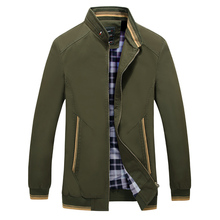Jacket autumn new mens cotton washed jacket high quality stand collar casual soft breathable