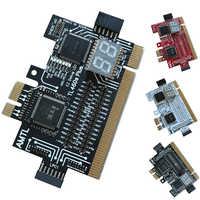 Detect Tool PCI-E LPC Multi Use Diagnostic Card Laptop Desktop Test Accessories Post LED Indicator PC Motherboard Debug Analyzer
