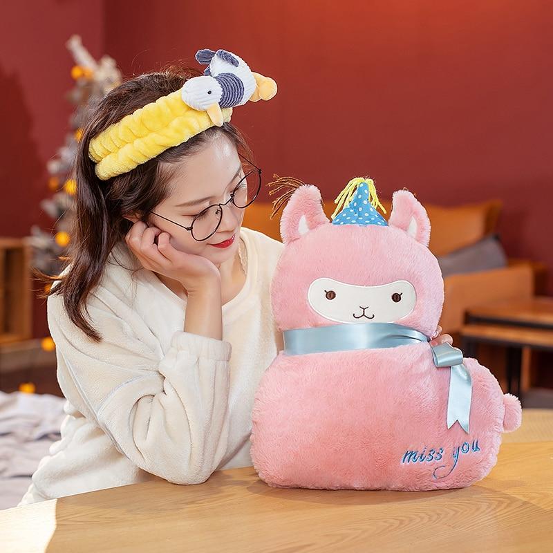 Alpaca Plush Toys Cute Stuffed Animal Dolls Sleeping Pillow Home Decor Plushine Birthday Valentines Day Gifts For Kids Just6F