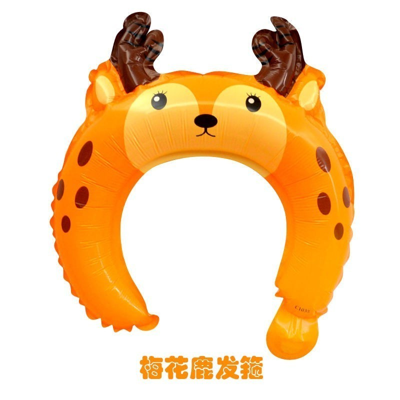 10pcs Head Decoration Ballons King Crown Animal Balloon Baby Shower Party Decoration Birthday Party Decorations Kids