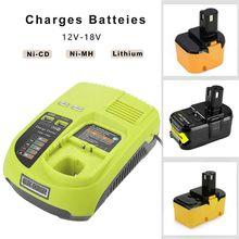 P117 Charger for Alternative Ryobi Genuine 12V-18V Lithium NiCD NiMH Battery