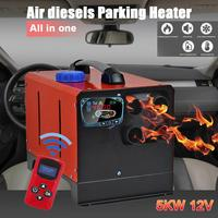 Car Heater 12V24V5KW Auxiliary Heater In Electric Heaters All In One Air Diesels Parking Heater LCD Screen Switch Remote Control