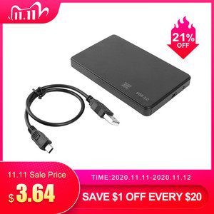 2.5 inch HDD SSD Enclosure Sata to USB 2.0 Adapter Free 5Gbps Box Hard Drive Case Support 2TB HDD Disk For WIndows