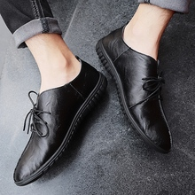 Fashion Men Leather Oxford Shoes British Style Retro Carved Bullock Formal Men Business Shoes Size 38-44 Lace-Up shoes %8801 стоимость