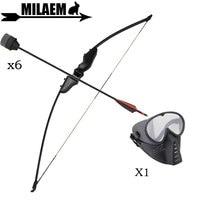 1Set Archery Recurve Bow 30/40lbs CS Game Bow With Fiberglass Arrow Sponge Head Left/Right Hand Shooting Accessories