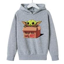 Shirt Hoodie Kawaii-Clothing Yoda Teenages Girls Baby Boys Cotton Child Cartoon for Kids