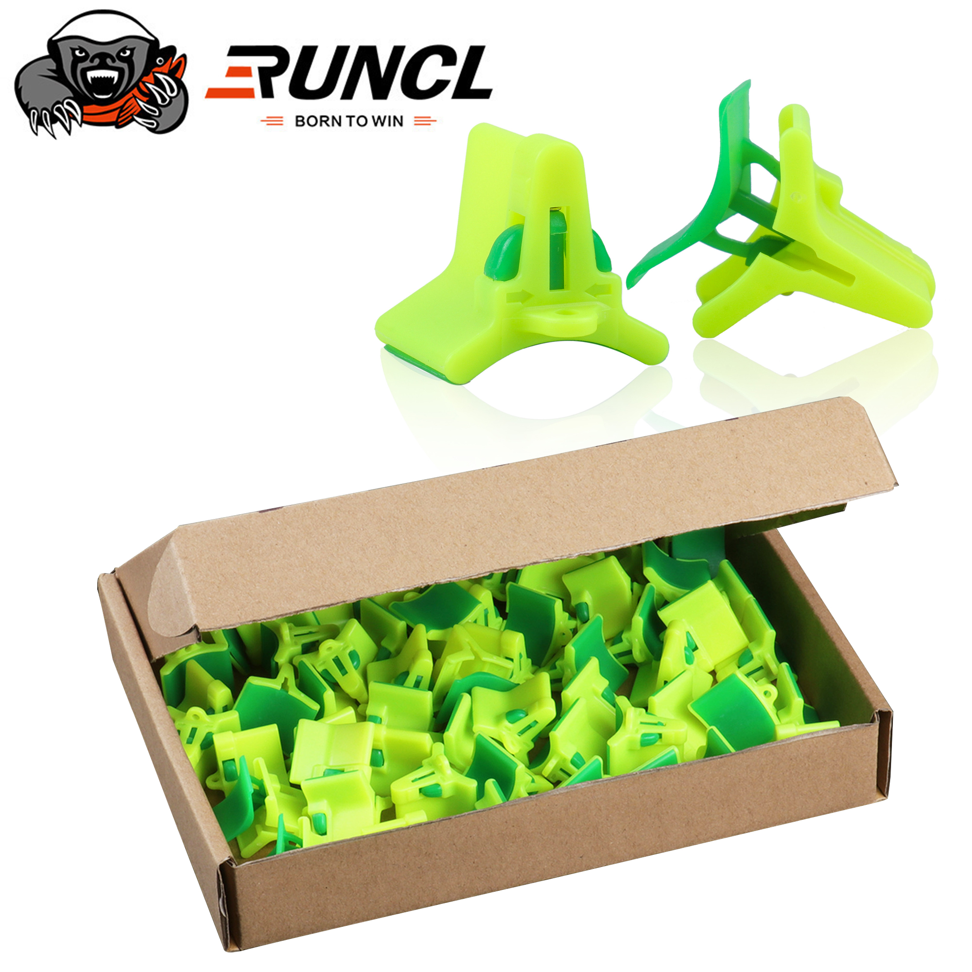 RUNCL 40/50PCS Lightweight Accessories With Slots Sleeves Tool Durable Protector Caps Fishing Out Hook Cover Safety Treble