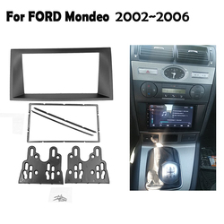 Double 2 Din Car Radio Fascia For FORD Mondeo 2002-2006 CD DVD Stereo Frame Dash Panel Installation Kits