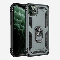 Luxe Armor Shockproof Phone Case Voor Iphone 5 5S 5SE 6S 6 7 8 Plus X Xs Xr 11 12 Mini Pro Max Volledige Magnetische Ring Bumper Cover