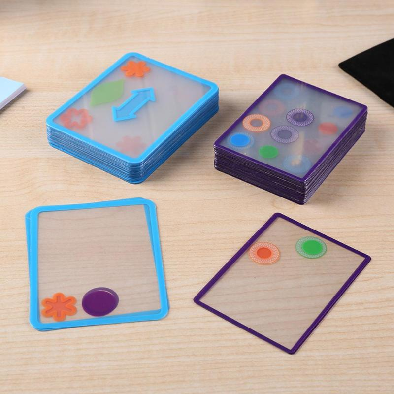 Multiple Overlapping Swish Transparent Card Spatial Logical Puzzle ToyExcellent ABS Plastics Prolonged Durable Game Kid
