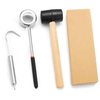 Coconut Opener Set Coconut Opening Tool + Rubber Hammer + Coconut Meat Removal Scraper, Safe & Easy To Open Coconut фото
