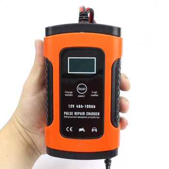 12V Pulse Repair Charger with LCD Display Motorcycle Car Battery Charger AGM GEL Lead Acid Battery Storage Charger Auto Parts image
