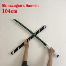 104cm Kimetsu no Yaiba Sword Weapon Demon Slayer Shinazugawa Sanemi Cosplay Sword 1:1 Anime Ninja Knife PU toy