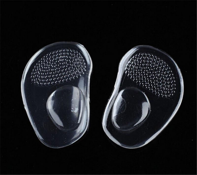 1Pair Hot Sale Silicone Gel Soft Cushion Insoles For High Heel Shoes Gel Pads Metatarsal Support Insert Pad