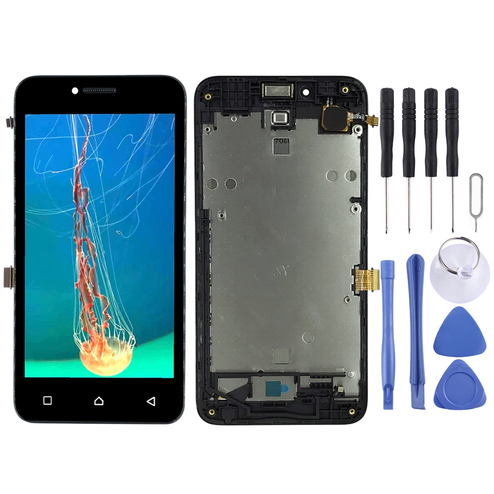 LCD Screen And Digitizer Full Assembly With Frame For Lenovo Vibe B A2016 A2016a40 A2016b30 (Black)