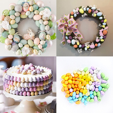 20pcs 2*3cm Painted Foam Bird Pigeon Eggs DIY Craft Kids Gift Favor Home Decor Happy Easter Colorful Eggs Party Decorations