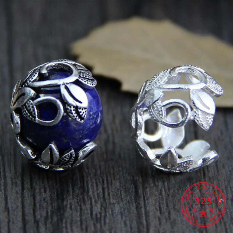 925 Sterling Silver Bead Caps Diy Jewelry Findings Accessories Wholesale Charm For Making Jewelry
