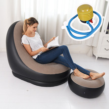 Simple 2 Set Portable Lazy Inflatable Sofa Outdoor Beach Fashion High Quality Inflatable Bed Outdoor Furniture Garden Sofas