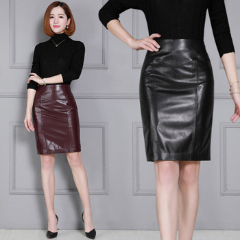 2020 Women New Real Genuine Sheep Leather Skirt K25 2019 new fashion genuine sheep leather skirt e46