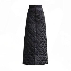 Image 3 - สีดำผ้าฝ้ายพลัสขนาดVintage 2020 สูงเอวเสื้อผ้าฤดูใบไม้ร่วงฤดูหนาวCasual Maxiยาวกระโปรงผู้หญิงกระโปรงผู้หญิงStreetwear