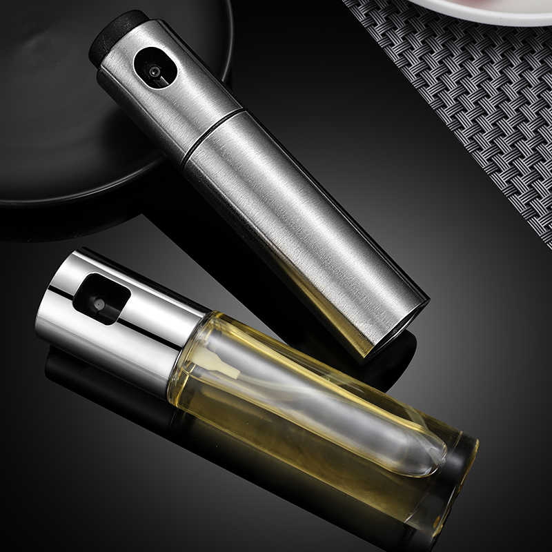 Glas Olijfolie Sproeier Kitchen Tools Rvs Azijn Olie Spray Lege Fles Dispenser Koken Salade Bbq Tool Mx9271512