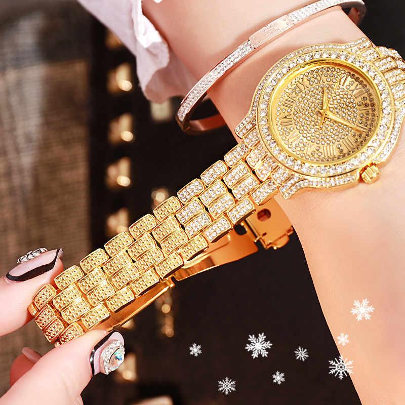 Jam Tangan Pria Merek Mewah Kalender Besar Berlian Watch Tahan Air Pria Fashion Hublo Jam Kuarsa Baja Pria Jam Tangan