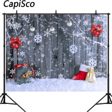LB Christmas Backdrop 10x8ft Vinyl Xmas Tree Snowman Snowflake Photography Background Family Holiday Party Decoration Kids Adult Portrait Photo Booth Props