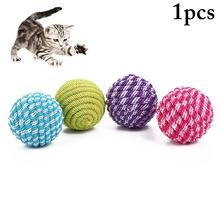 Pet Cat Toy Ball Elastic Bite Resistant Funny Kitten Ball Toy Cat Interactive Toy