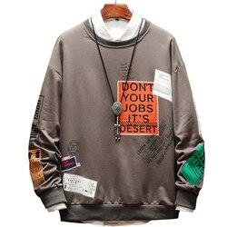 HENCHIRY 2019 Mannen Harajuku Katoen Hoodies Solid Patchwork Zakken Regelmatig Oversize Sweatshirt Plus Size Hoodies stranger dingen