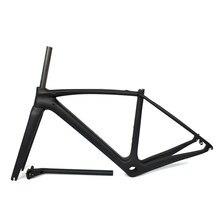 Cadre de vélo de route en fibre de carbone XXS XS S M L, BSA BB30 PF30 T1000, garantie de 2 ans