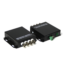 AHD/TVI/CVI 4 channel + 1 data RS-485 video to fiber converter up 1.3MPX