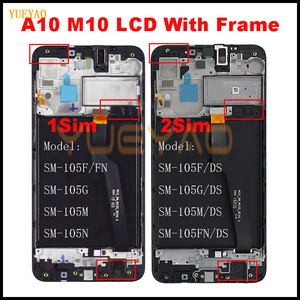 For Samsung Galaxy A10 A105 A105F SM-A105F LCD Display Screen replacement Digitizer Assembly For Samsung M10 M105F LCD