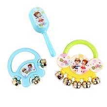 лучшая цена 1pc Baby Toys Plastic Hand Jingle Shaking Bell Hand Shake Bell Ring Baby Rattles Toys Newborn 0-12 Months Kids Instrument Toys