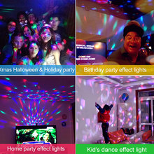 цена LED Stage Light RGB Colorful Crystal Effect Dj Disco Party KTV Club Bar Laser Projector Lamp + LED Flashlight Torch Flash Light онлайн в 2017 году