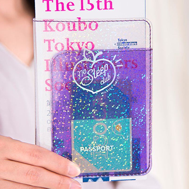 10.3 X 14cm Fashion Design Passport Holder Cover Holographic Wallet Card Case Card Pouch For Travel Women Girls Hot 2019