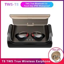 T8 Mini TWS Bluetooth Thật 5.0 Tai Nghe Không Dây Tai Nghe Nhét Tai In Ear Bass Sâu Stereo Tai Nghe Thể Thao với 3000 mAh Sạc Hộp
