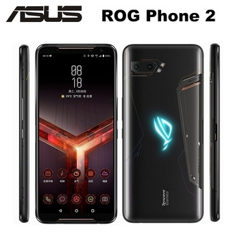 "New Asus ROG Phone II ZS660KL Mobile Phone 12GB 512GB Snapdragon855+ 6.59""1080x2340P 6000mAh 48MP NFC Android 9.0 ROG Phone 2"