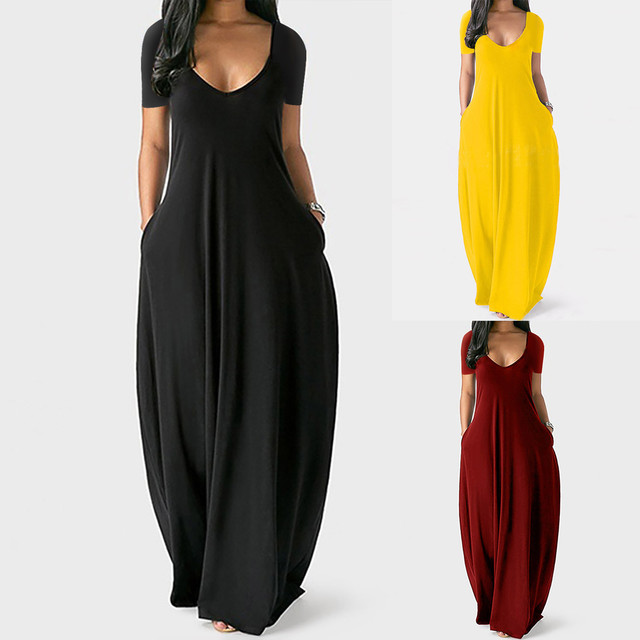 Plus Size 5xl Sexy Women Dress Summer 2021 Solid Casual Sleeveless Maxi Dress For Women Long Dress Dropshipping Lady Dresses 2