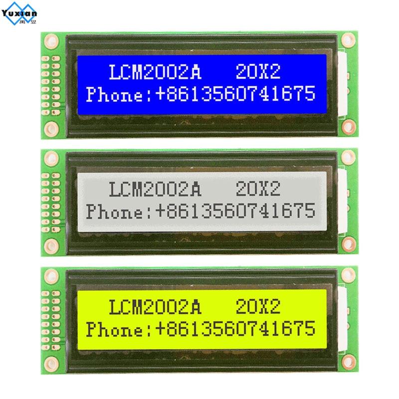 20X2 2002 Character LCD Module Display Screen Green Blue White HD44780 5v TC2002A LMB202D WH2002A AC202A