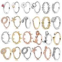 Boosbiy New Fashion Special Offer 47 Styles Rose Gold Silver Color Ring Fit Brand Stackable Round Finger For Women Jewelry
