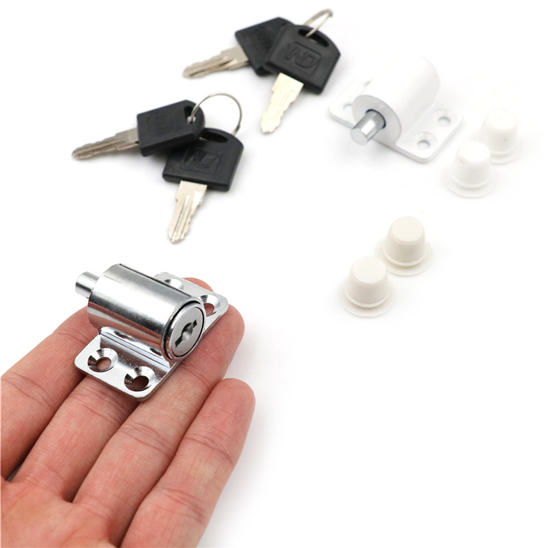 Security Child Sliding Door Patio Window Bolt Locking Catch Push Lock