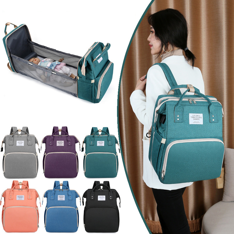 Large Capacity Diaper Bag Backpack Multifunctional Baby Bed Bags with Changing Pad Maternity Nursing Nappy Bag Stroller Bag