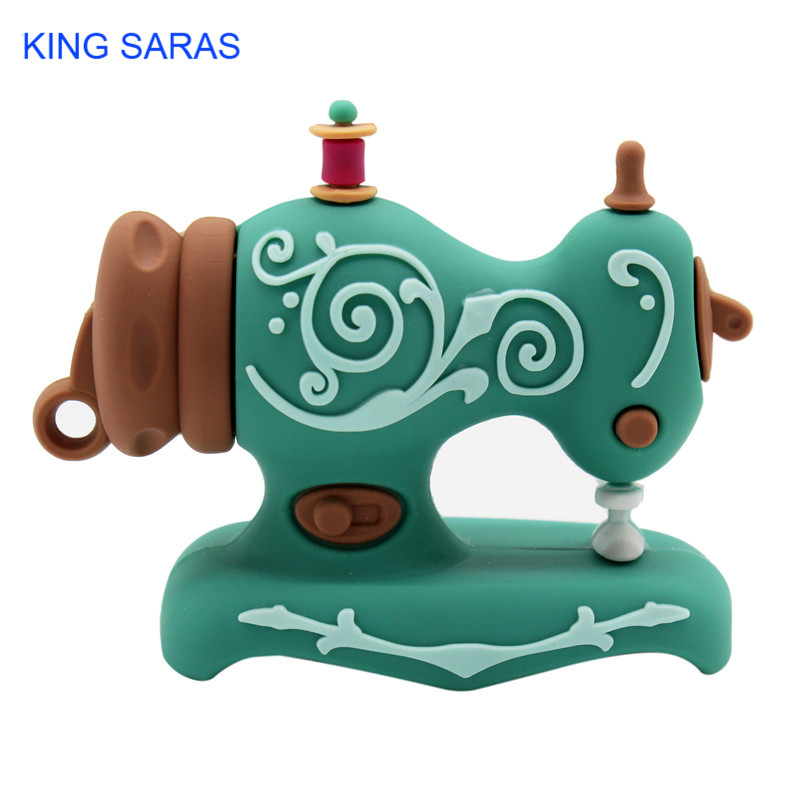 Image 3 - KING SARAS cartoon Beautiful creative Sewing machine model usb2.0 4GB 8GB 16GB 32GB 64GB pen drive USB Flash Drive  Pendrive-in USB Flash Drives from Computer & Office