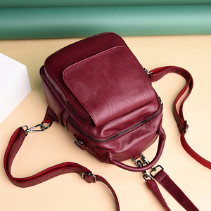 Image 4 - Female Multifunction Backpacks For Girls Sac A Dos Women Leather Backpacks Large Capacity School Bags For Girls Back Pack New