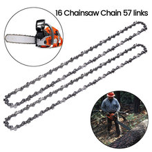 2pcs 16 Inch Chainsaw Chain Bar Pitch 3/8 Blade Wood Cutting 57 Drive Links Replacement Parts Spares for Electric Saw