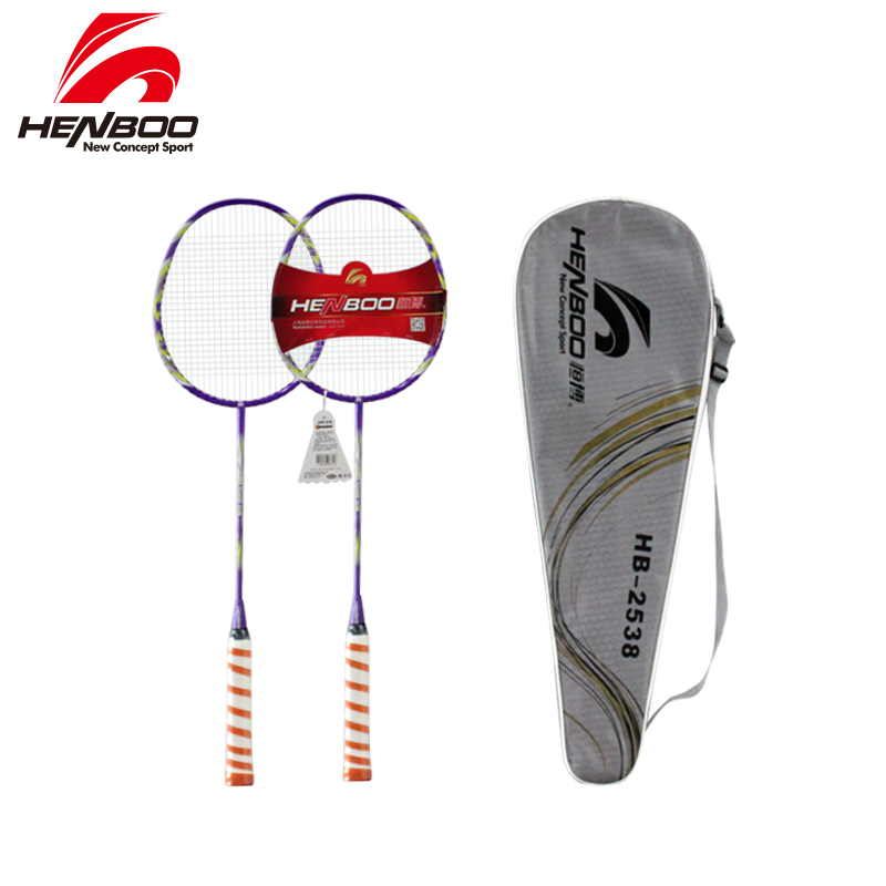 HENBOO Lightweight Badminton Set Durable Aluminum Alloy Training Badminton Racket With Tote Bag Sports Equipment Standard Use