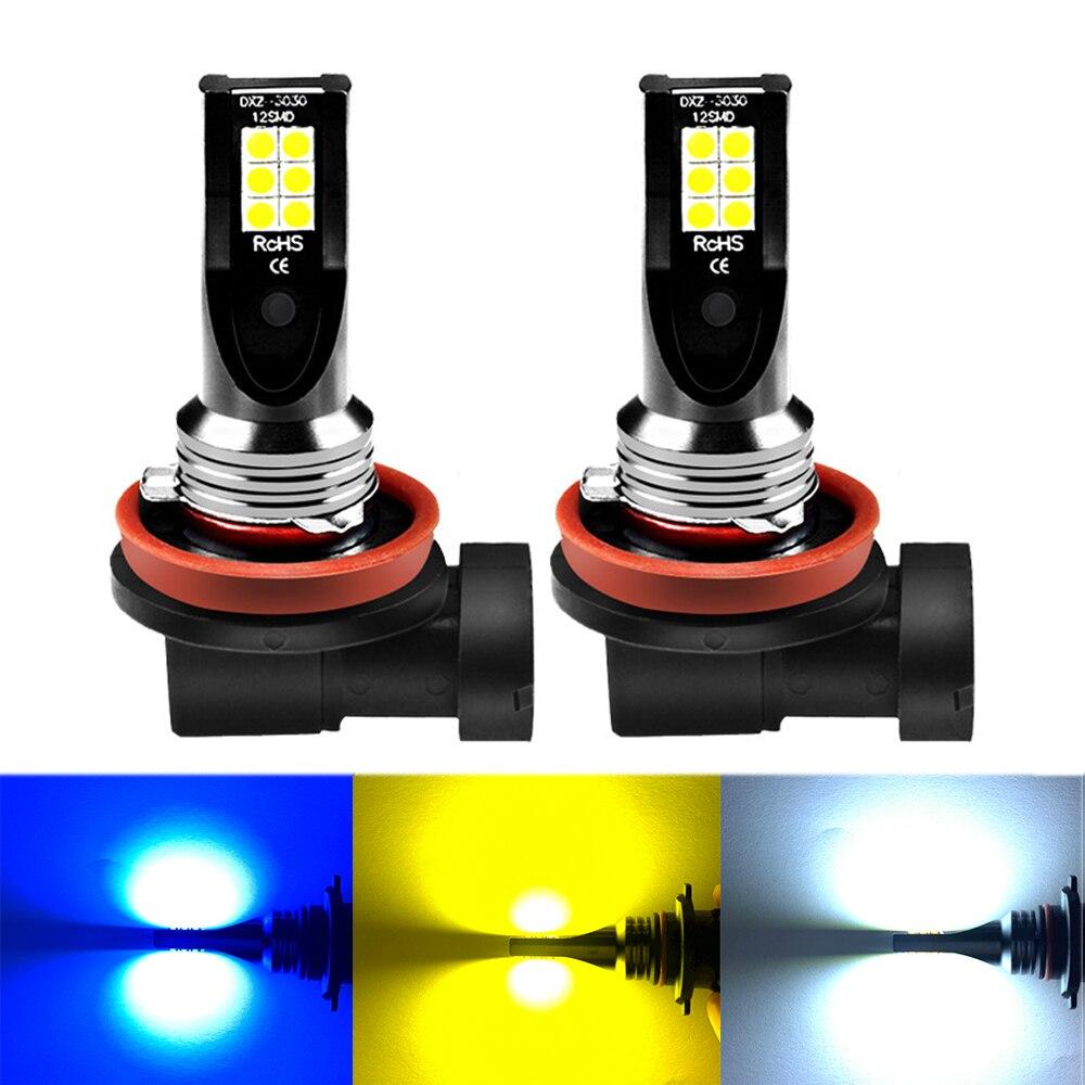 ASLENT 2X H8 H11 светодиодные лампы HB4 Led HB3 9006 9005 H3 H7 H4 Противотуманные фары 1000LM бега Авто Лампа 6000K белый 3000 К золотисто-желтый