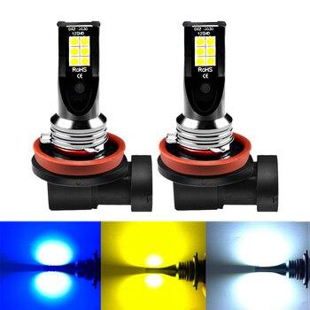 ASLENT 2X H8 H11 Led Bulb HB4 HB3 9006 9005 H3 H7 H4 Fog Lights 1000LM Running Car Auto Lamp 6000K White 3000K Golden Yellow