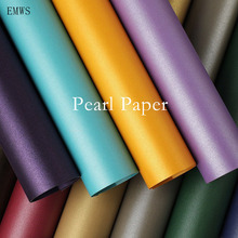A4 Pearl Paper DIY Card Making Paper Iridescent paper Wrapping Paper Craft Paper Pure Color Pearl Paper Kraft Card pape sumerian vistas paper